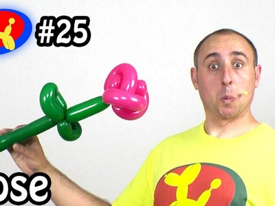 Two Balloon Rose Flower - Balloon Animal Lessons #25 ( globoflexia)