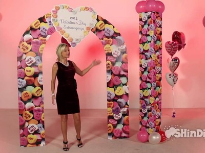 Valentine's Day Party - Personalized Heart Arch - Candy Wedding - Shindigz Party Decorations