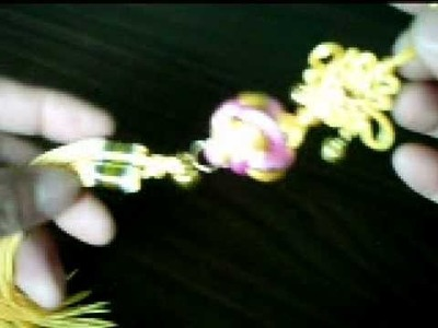 Yellow Chinese Knot Tassel Oriental Ball Ornament with Bells
