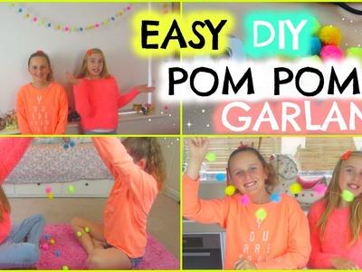 DIY Pom Pom Garland! Easy and Fun To Make