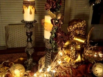 Do It Yourself Christmas Ornament Chandelier