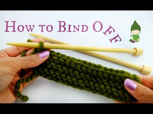 How to Beginner Bind Off Knitting