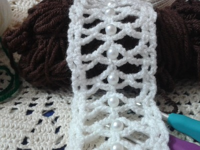 How to : Crochet a Beaded Narrow Tap. Video Tutorial