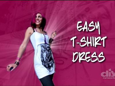 How To Make a No-Sew T-shirt Dress
