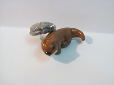 How to Make a Polymer Otter and Shell Charm from Polymer Clay