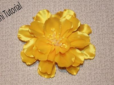 Kanzashi Flower Tutorial. Ribbon Flower Tutorial