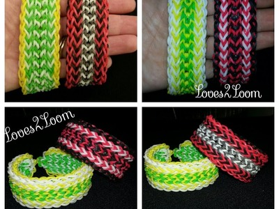"New* Inverted Fringe"" Advanced Rainbow Loom Bracelet. How To Tutorial"