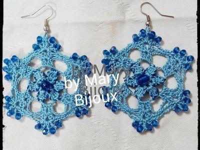 """Orecchini uncinetto""""Blue Crystal"""""""