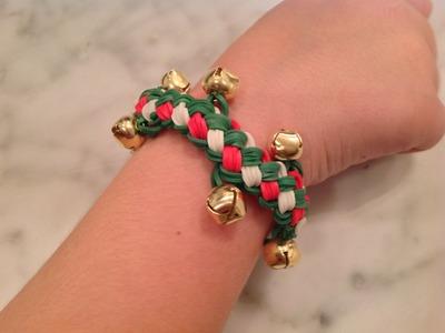 Rainbow Loom Christmas Jingle Bell Double Braid Bracelet