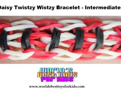 Rainbow Loom Rubber Band Refill - Upsy Daisy Twistzy Wistzy Bracelet Instructions