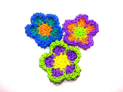 Retro Pop Flower Tutorial by feelinspiffy (NO LOOM) (Loom bands)