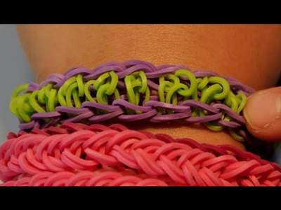 VIDEO INSTRUCTIONS: How to make a center swirl rubber band bracelet with Cra z loom