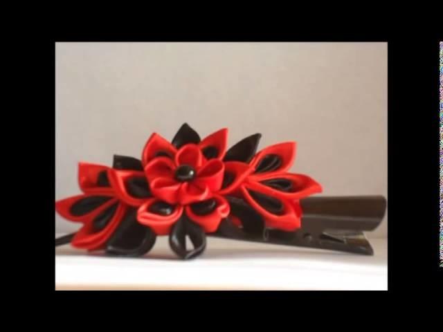 Clip hair kanzashi   hand made