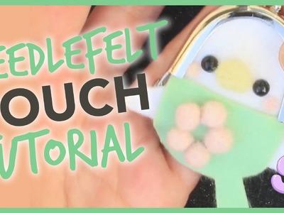 Cute Parakeet Pouch Kit | Needlefelt Tutorial
