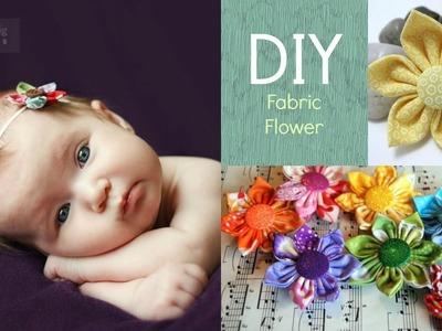 DIY Fabric Flower for Little girls!