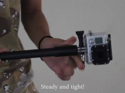 """DIY """"GoPole"""" for GoPro (Without any drilling)"""