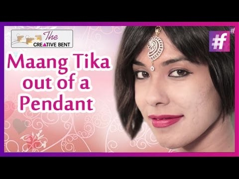 DIY: How To Make A Maang Tika Out Of A Pendant