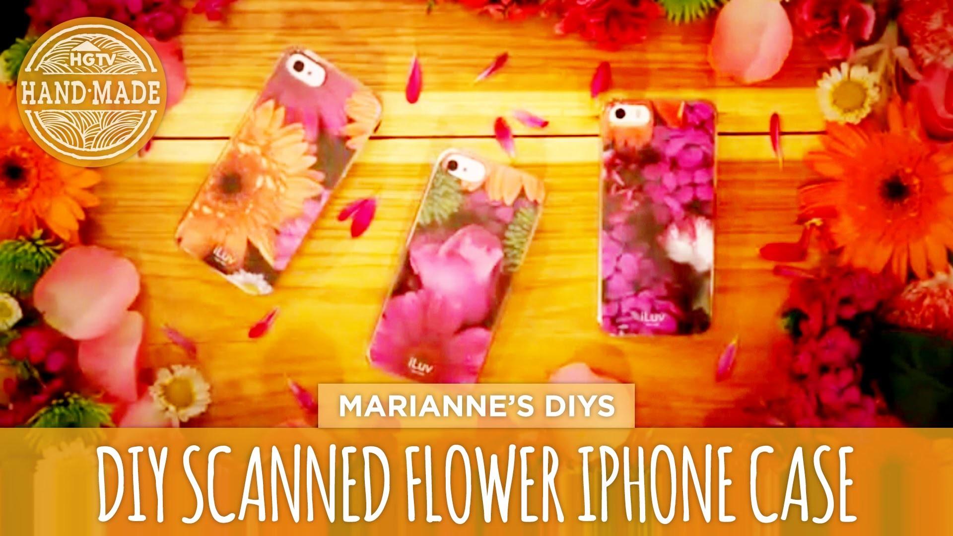 DIY Scanned Flower iPhone Case - HGTV Handmade