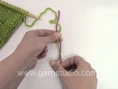 DROPS CraftingTutorial: How to join new yarn with a double knot