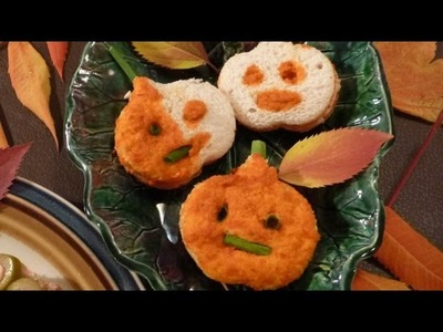 Halloween Party Ideas - Jack O'Lantern Mini Turkey Sandwich Recipe