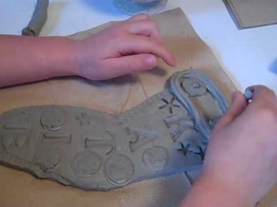 How to Make a Clay Christmas Stocking with a Three Year Old