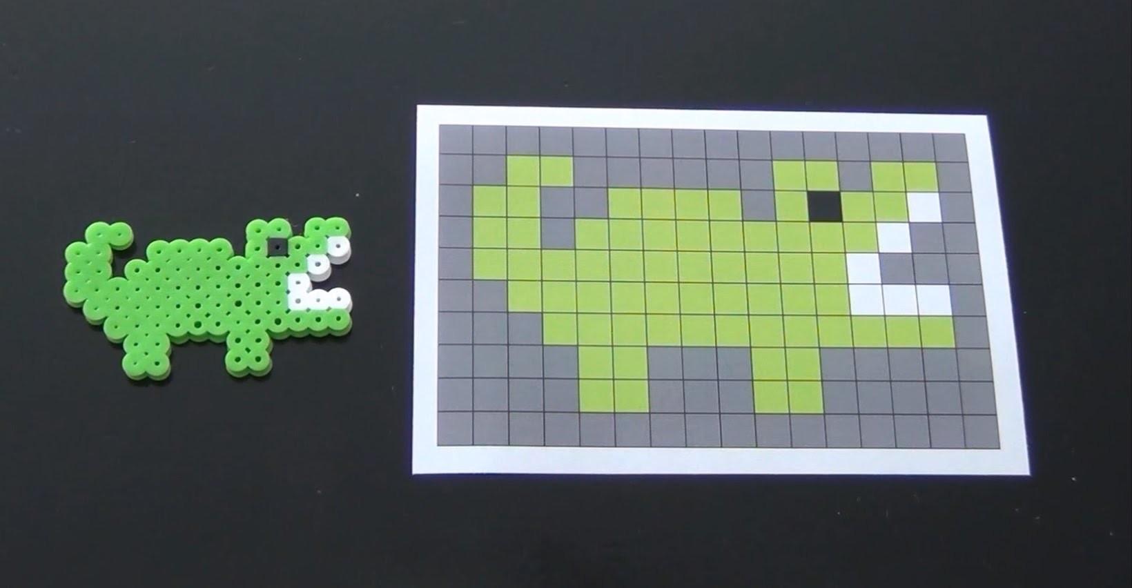 How to Make a Cute Perler Bead Gator