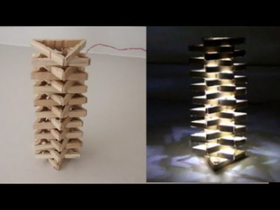 How To Make a Simple Peg Lamp!