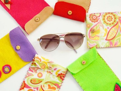 How To Make Colorful Felt Pouches For Sun Glasses - DIY  Tutorial - Guidecentral