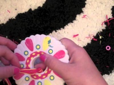 How to make Friendship Bracelets: Starting a Friendship Wheel Bracelet