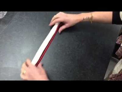 How to make sugar craft candy canes using sugar paste. fon