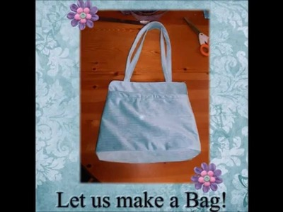 How to sew a Bag with 2 straps, a Zip Top, Lining & Pockets