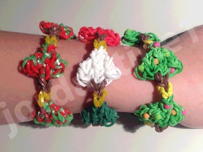 New Rainbow Loom Holiday Christmas Tree Bracelet - Part 1