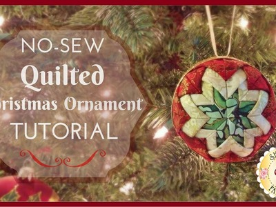 """No Sew"" Quilted Christmas Ornament - Shabby Fabrics"