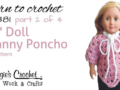 Part 2 of 4 Granny Poncho Right Handed #FP381