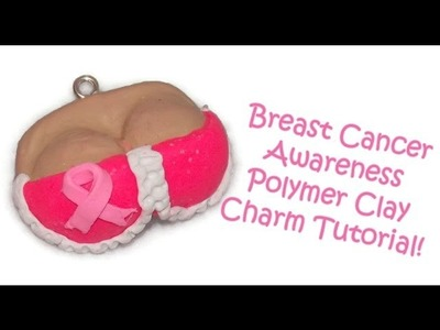 Polymer Clay Tutorial: Breast Cancer Awareness Polymer Clay Charm!