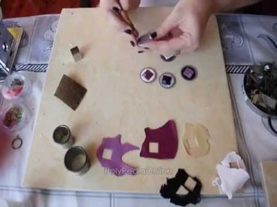 PolyPediaOnline Free Tutorial How To - Polymer Clay DiscChic Jewelry by Iris Mishly