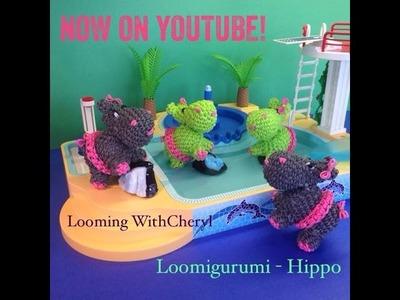 Rainbow Loom Hippo - Loomigurumi - Looming WithCheryl