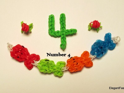 Rainbow Loom Number 4 charm - How to
