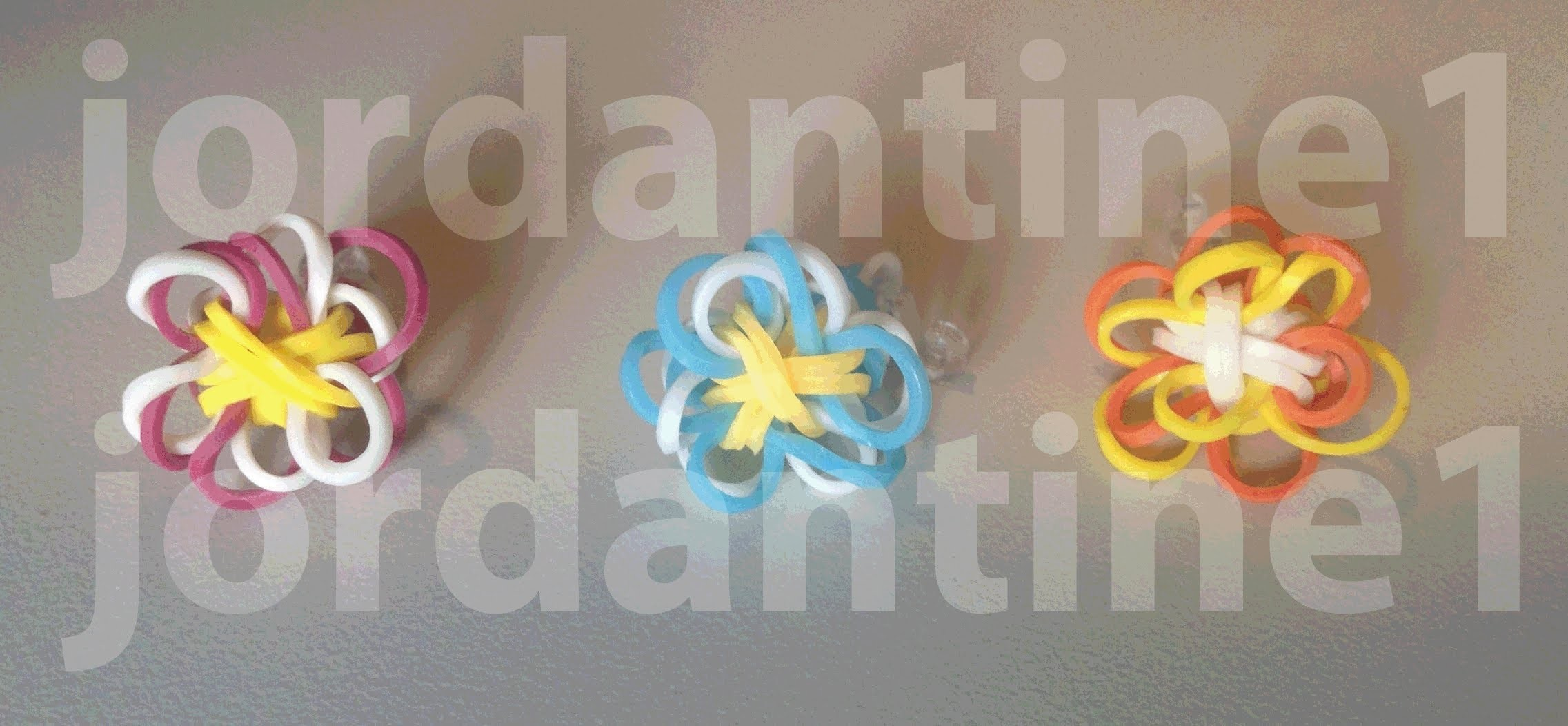 Two Color Flower Fun Charm - New Updated Version - Rainbow Loom, Crazy Loom, Wonder Loom, Bandaloom