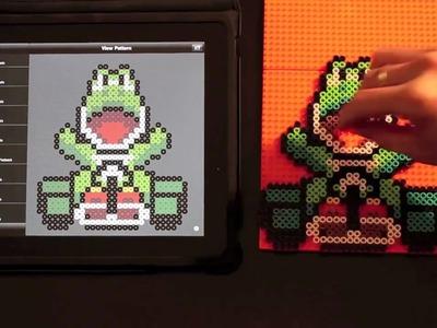 Yoshi (Mario Kart) Bead Sprite using Bead It! HD on iPad