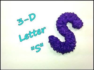 "3-D Letter ""S"" Tutorial by feelinspiffy (Rainbow Loom)"