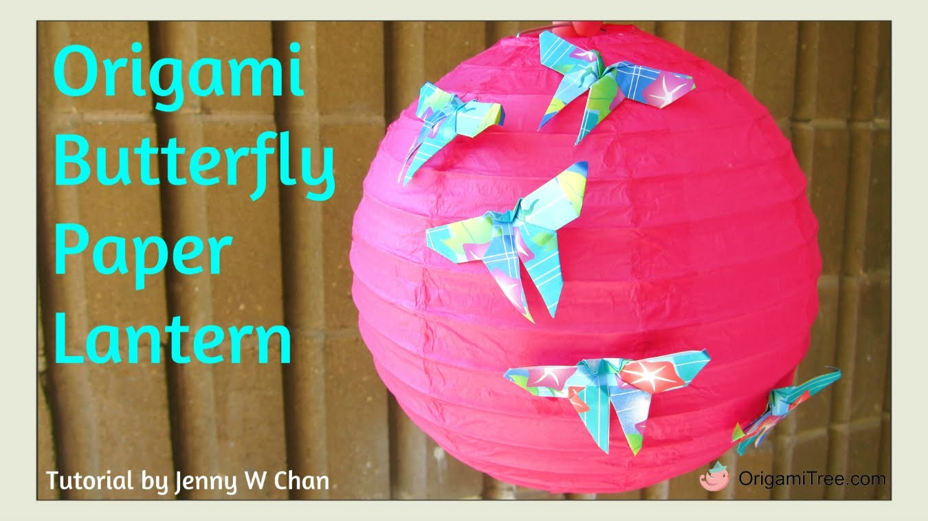 Back to School Crafts - Origami Butterfly - Paper Lantern DIY Room Decor - Dorm, Parties Decoration