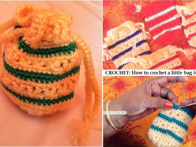 CROCHET: How to crochet a little hand pouch for beginners | Sandy