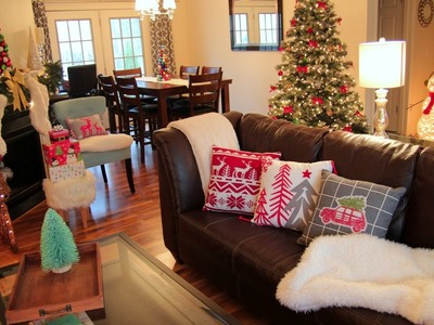 Decorating For Christmas ❄ Christmas Living Room Tour + Christmas Decorating Ideas