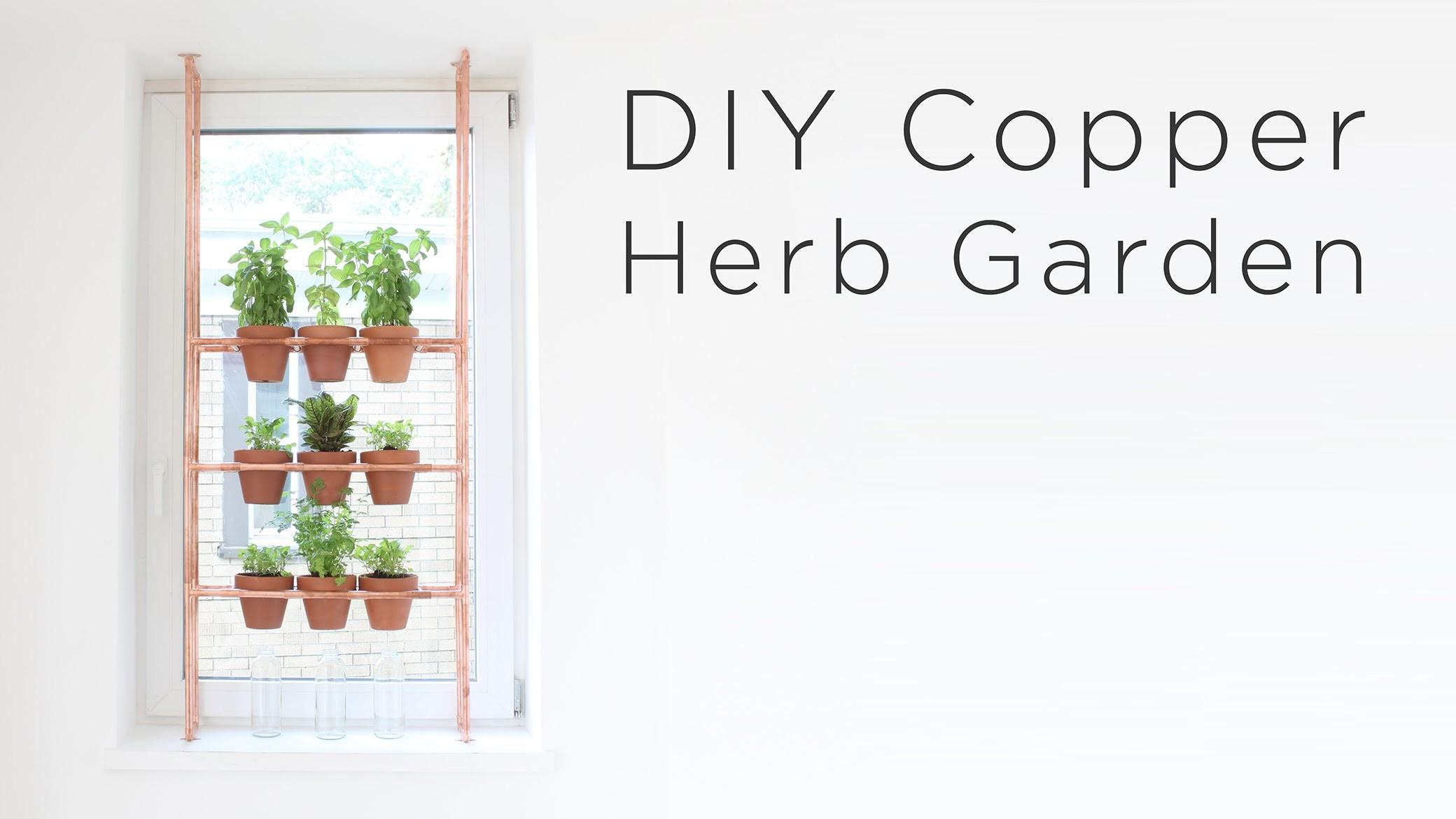 DIY Copper Herb Garden