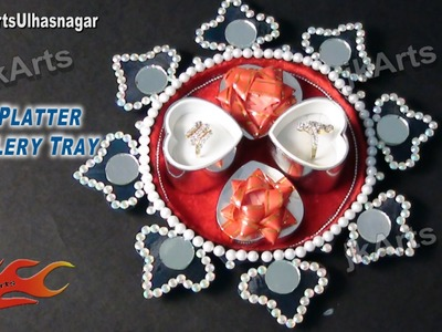 DIY HOW TO: Decorate Ring Platter. Wedding Tray - JK Arts 537