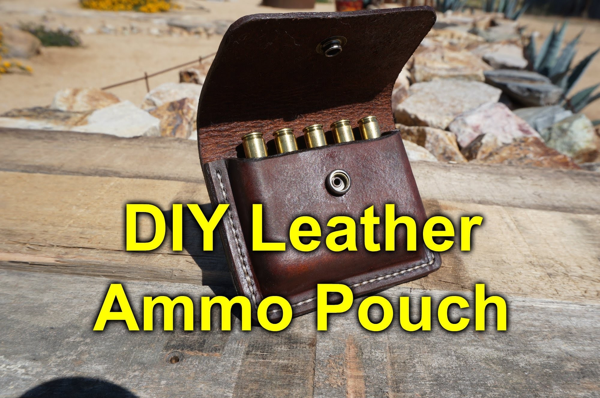 DIY Leather Ammo Pouch. Carrier