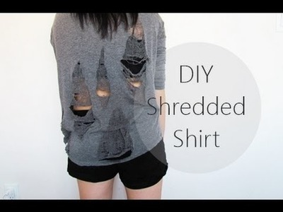 DIY Shredded Shirt | NANCY MAC