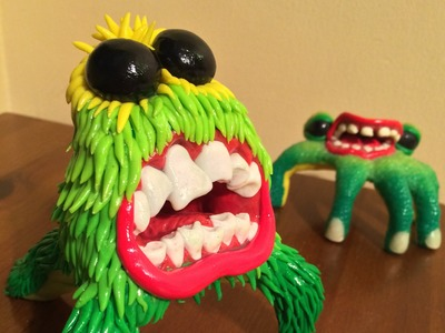Hairy Monster Polymer Clay Sculpture Tutorial (Time Lapse)