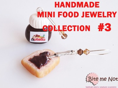Handmade Miniature Food Jewelry from Polymer Clay: Collection #3 from Bite me not jewels